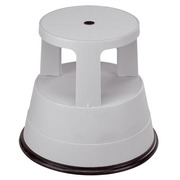 Mobile step stool in plastic with 2 steps colored - light grey