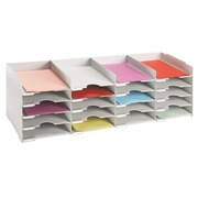 Storage box 90cm, 20 slots - grey