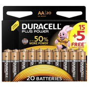 Pack 15 piles LR6 Duracell Plus Power AA + 5 OFFERTES