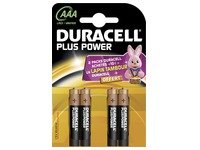 Blister of 4 batteries LR03 Plus Power