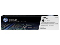 Pack of 2 toners HP 126A black