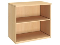 High bookcase wood H 73 x W 80 cm Arko