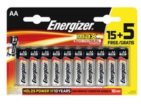 Blister of 15 batteries + 5 free LR06 Energizer Max