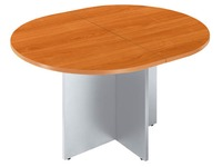 Oval meeting table Excellence cherry table crossed stand