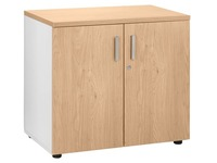 Low cupboard light oak body white Eden