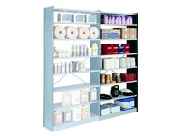 Versatile shelving extension element H 250 x W 126 x D 38 cm cross braces single access