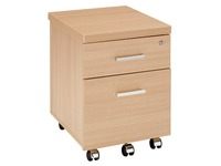 Mobile cabinet Shiney 2 drawers oak finish