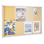 Information board with sliding doors for 8 sheets A4 cork